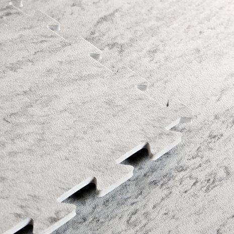 Gymgolv/Aerobicgolv 10mm, Light Grey Marble
