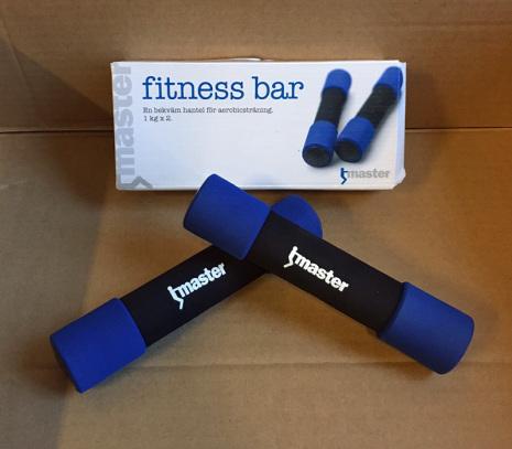 Fitness bar 2x1 kg UTFÖRSÄLJNING