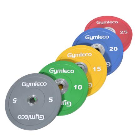 Gymleco Bumper vikter, färgade (50 mm Ø)