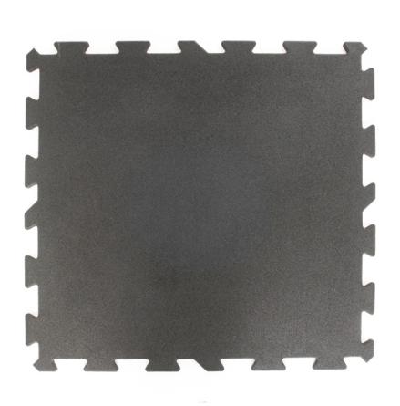 Gummigolv pussel 15mm, svart 1x1m