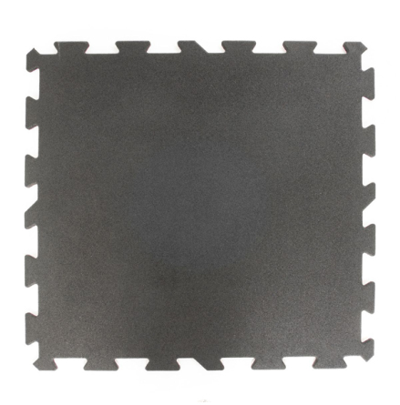 Gummigolv pussel 25mm, svart 1x1m