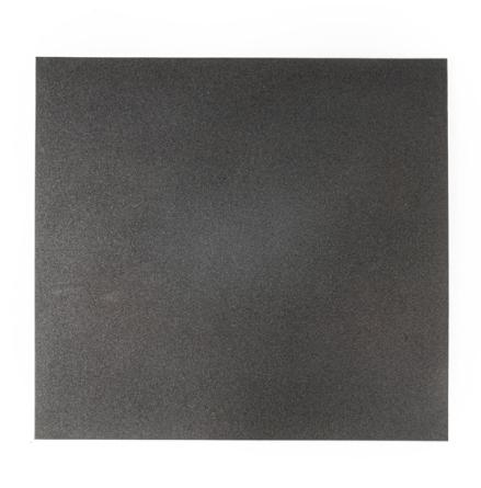 Gummigolv raka kanter 15mm, svart 1x1m